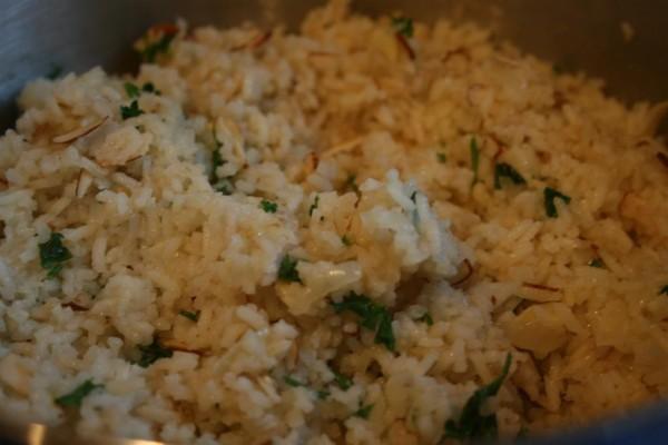 almond rice pilaf