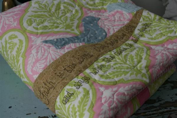 bird applique quilt