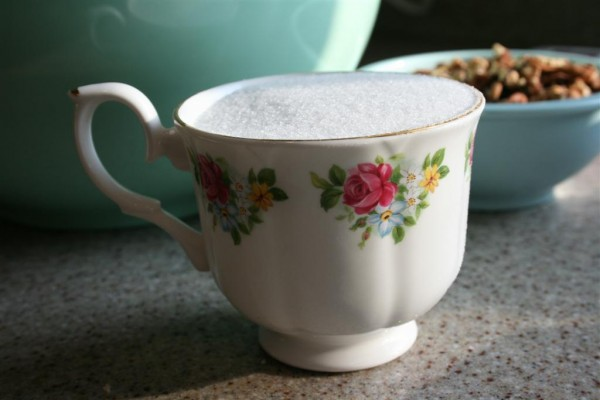 teacup of sugar