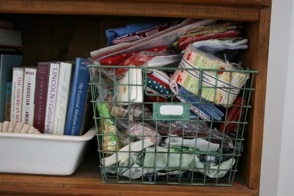 basket full of craft supplies