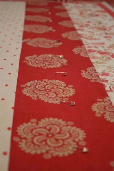 pins in fabric