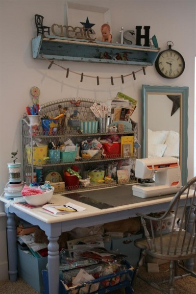 craft and sewing station