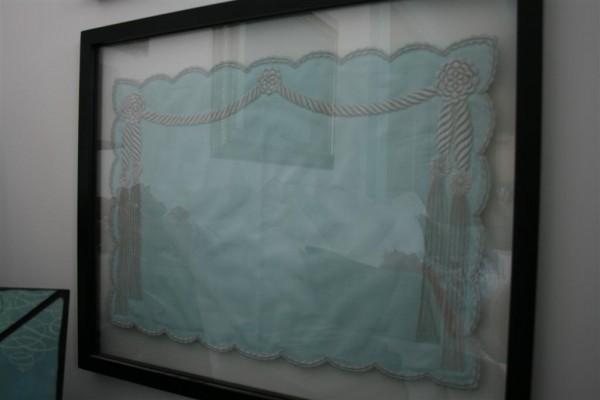 framed Marghab linen: cord and tassel