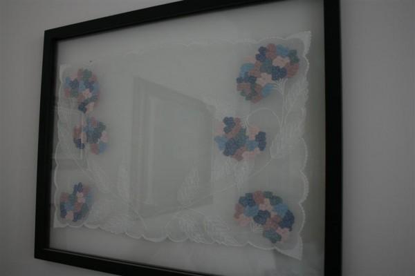 framed marghab linen: hydrangea