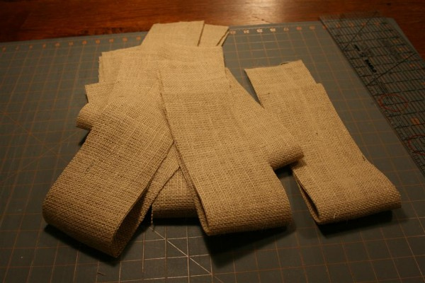 strips of burlap