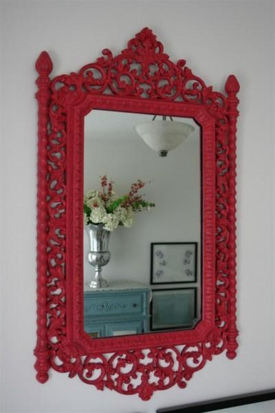 vintage mirror pink