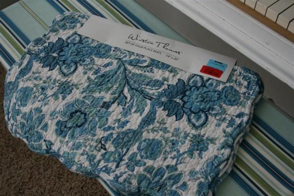 blue placemats