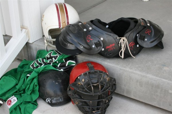 old sports equipment
