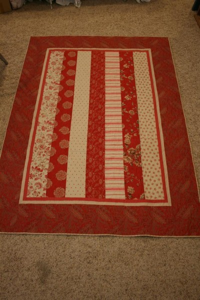 Rouenneries quilt top