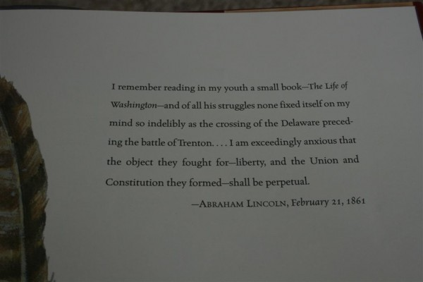 Lincoln quote on battle of Trenton