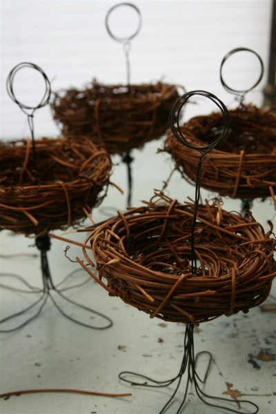 bird nest place card holders