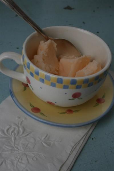 frozen yogurt in teacup 2
