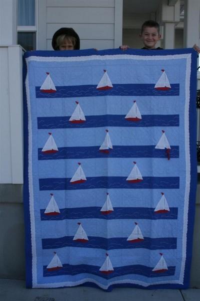 vintage sailboat quilt 2