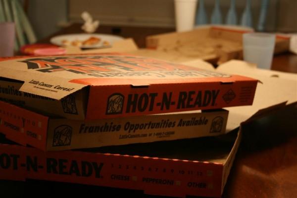 little Caesar's pizza boxes