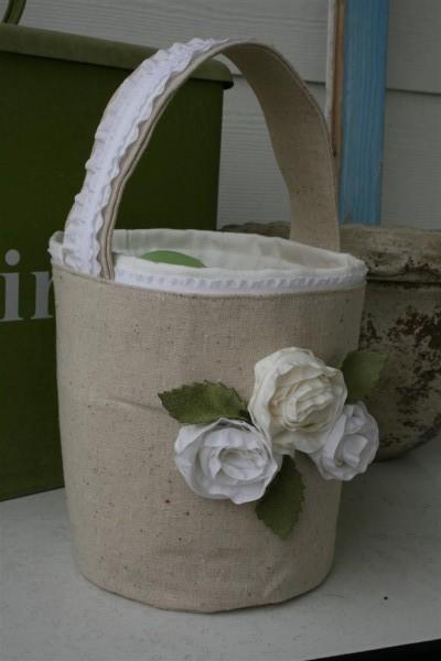 Ribbon embellished Easter basket