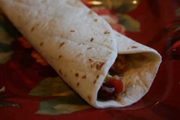 rice and bean wraps