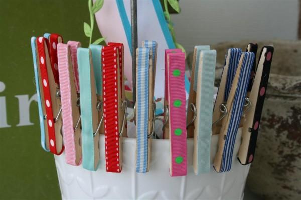 ribbon clothespins