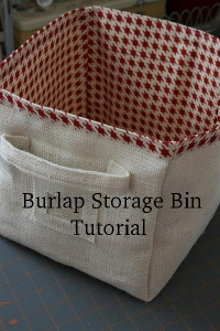 burlap storage bin tutorial