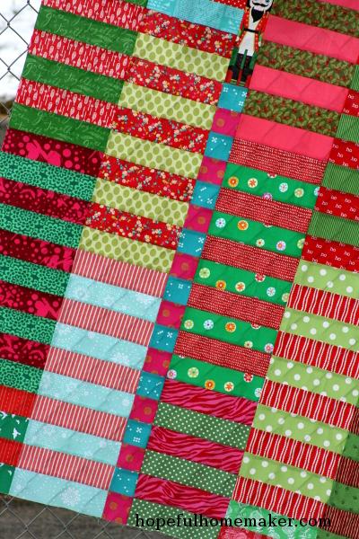 Christmas Color Stack Quilt Top Hopeful Homemaker