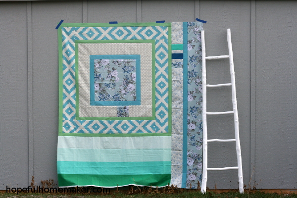 Till We Meet - simple quilt top by Hopeful Homemaker