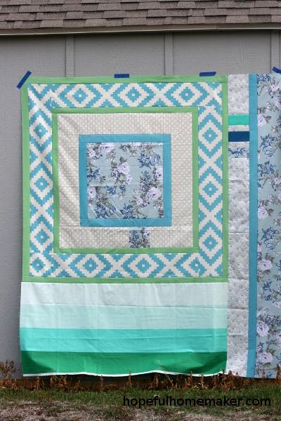 till we meet quilt top by hopeful homemaker