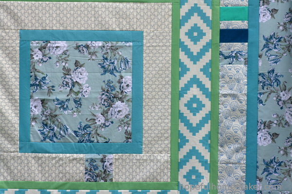 blue quilt top