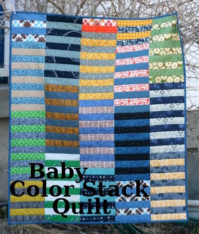 Baby Color Stack quilt at hopefulhomemaker.com