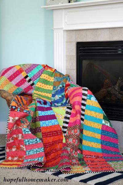 Color Stack Quilt by Hopeful Homemaker