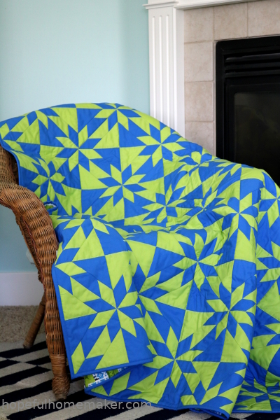 Hunter's Star quilt pattern by Hopeful Homemaker, available at Craftsy.com
