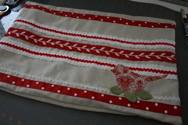 ribbon pillow cover