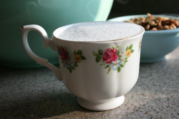 teacup of sugar