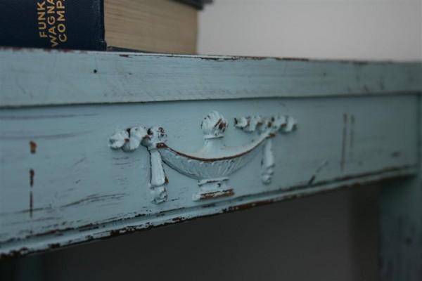 antique blue table