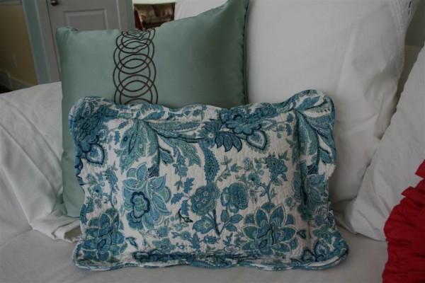 blue placemat pillow