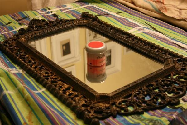 vintage mirror:  before