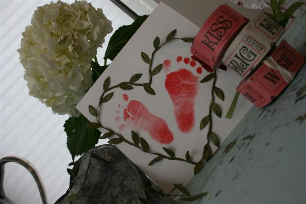 baby feet valentine
