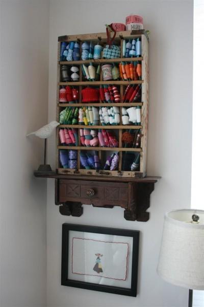 ribbon organizer corner