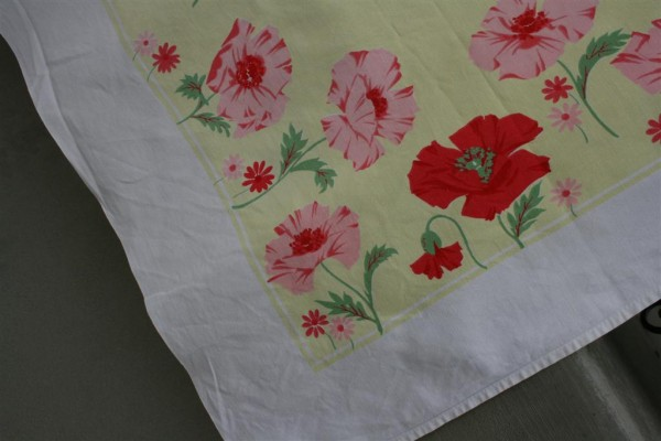 vintage yellow tablecloth