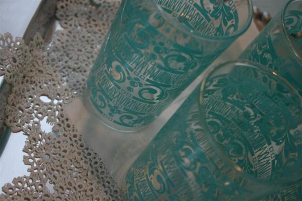 vintage aqua glasses