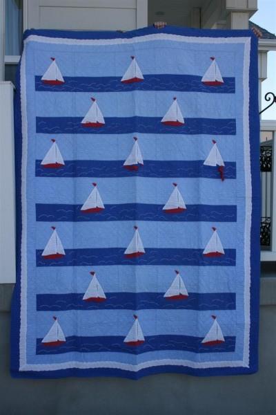 vintage sailboat quilt