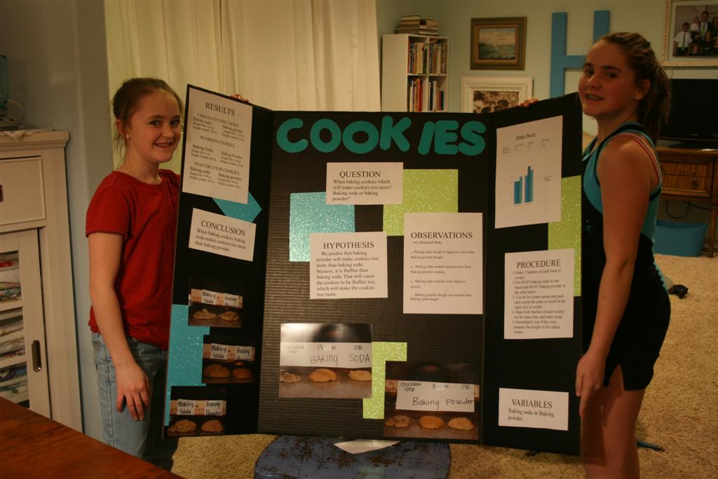 cookie science fair projects The science fair with chocolate chip cookies, oh my filed under: blog, kids posts, parenting, parenting two kids tagged with: chocolate chip experiment, my kids, school projects, science fair share 31 what science fair projects have they done.