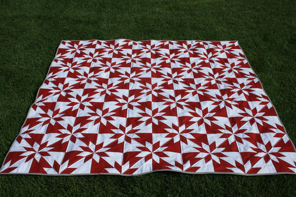 Hunter's Star Quilt - Hopeful Homemaker : red and white quilts - Adamdwight.com
