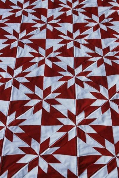 huter's star quilt close